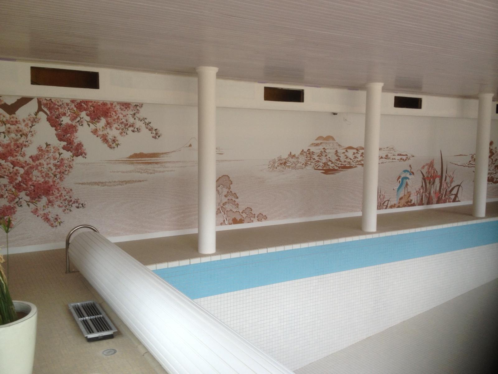 Mur tendu piscine particulier